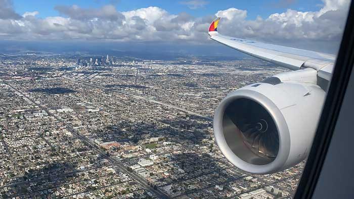 Los Angeles aus dem Flugzeug