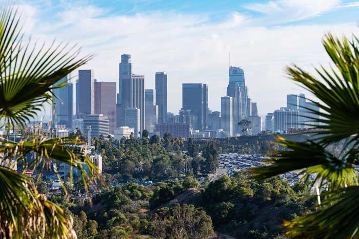 Los Angeles - Stadtbild mit Palmen