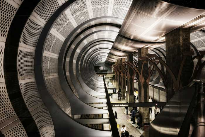 Hollywood Metro Station in Los Angeles