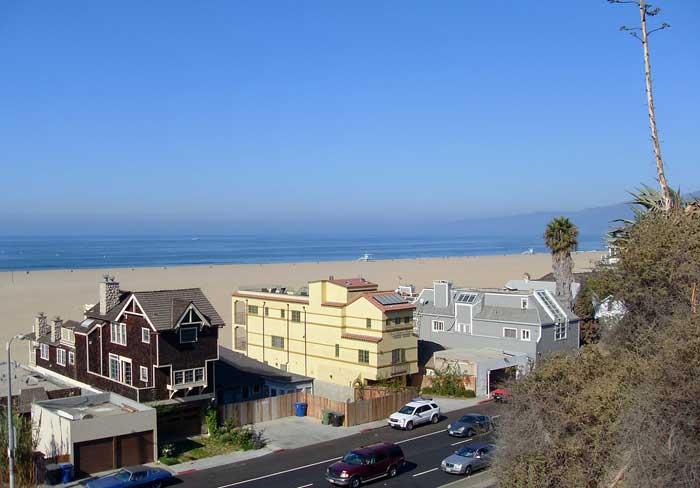 Häuser am Strand in Santa Monica