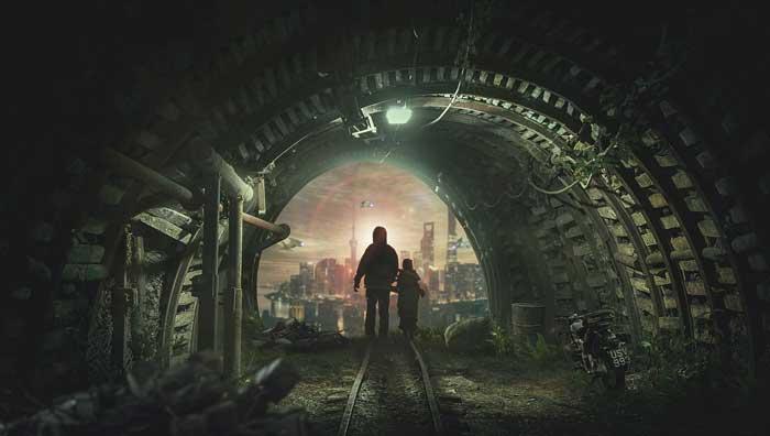 Bildcollage Tunnel