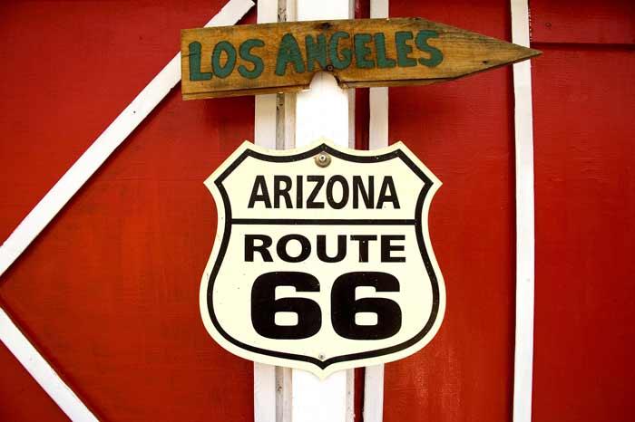Route 66 Richtung L.A.