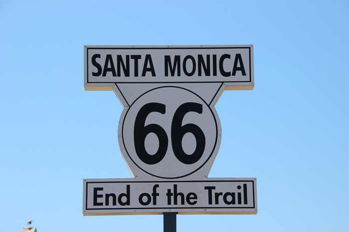 Das Ziel der Route 66 bei L.A. Santa Monica